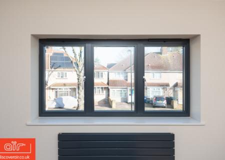 Flush-aluminium-window-everglade-Farnham-Common