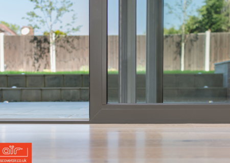 Close-up-of-slim-frames-of-air-lifta-nd-slide-doors-at-a-home-in-Chipping-Barnet