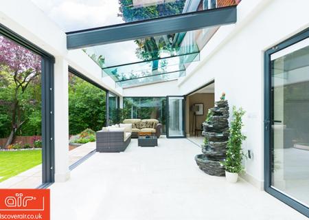 Conservatory-with-aluminium-glazed-doors-in-Burnham