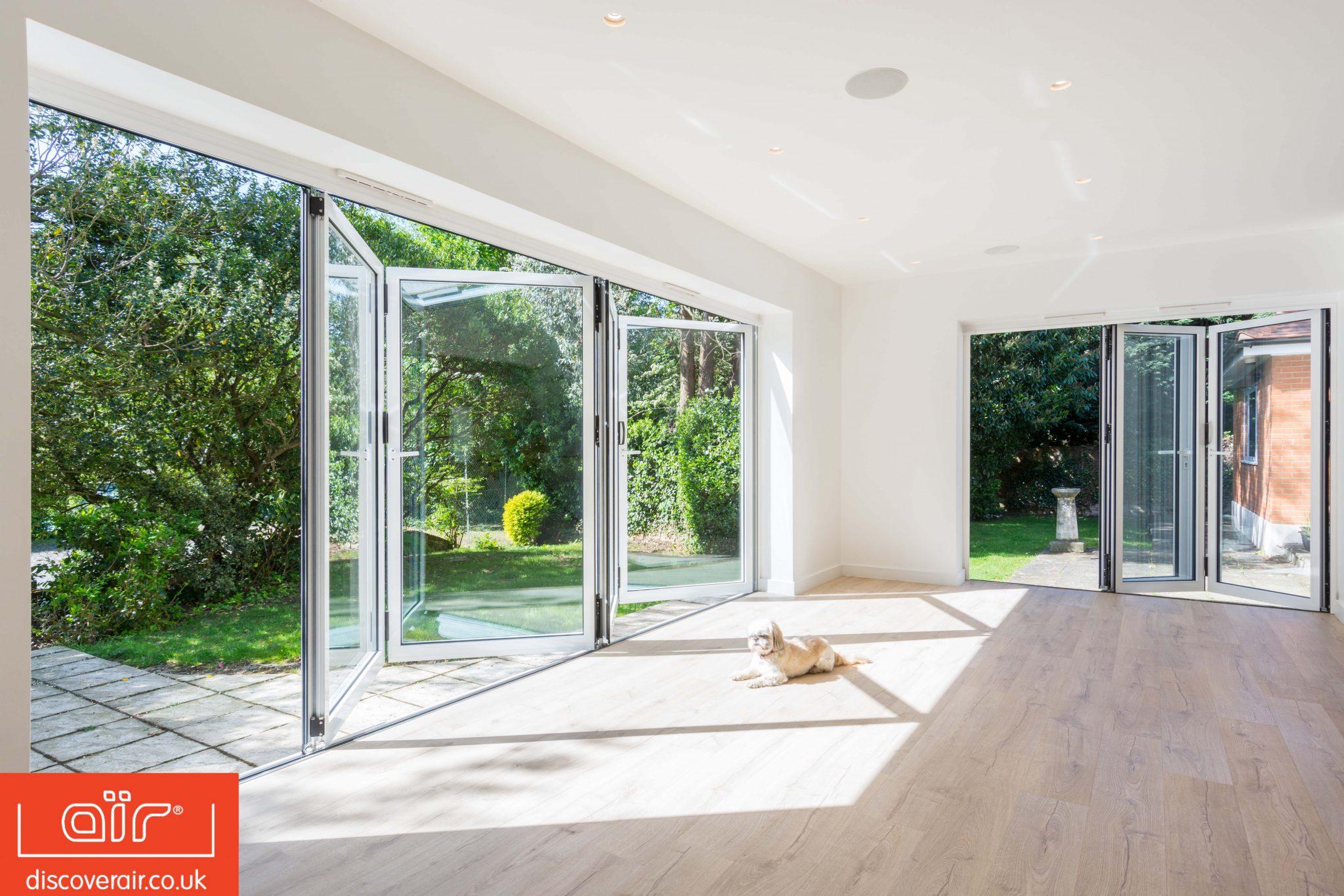Sunbathing bifold doors