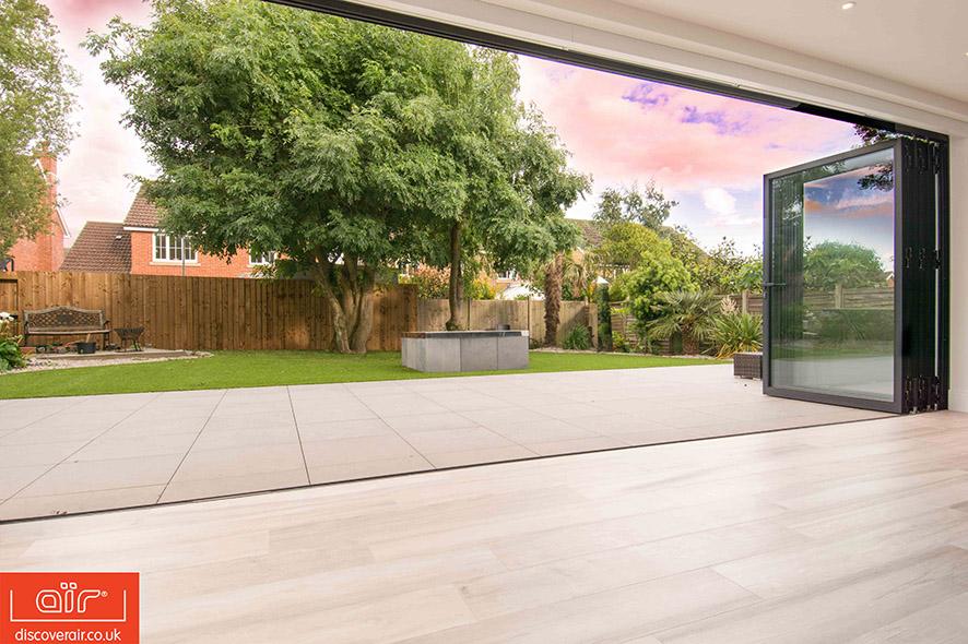 Bifold doors garden