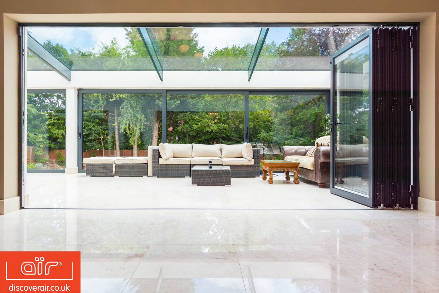 Aluminium bifold doors from air