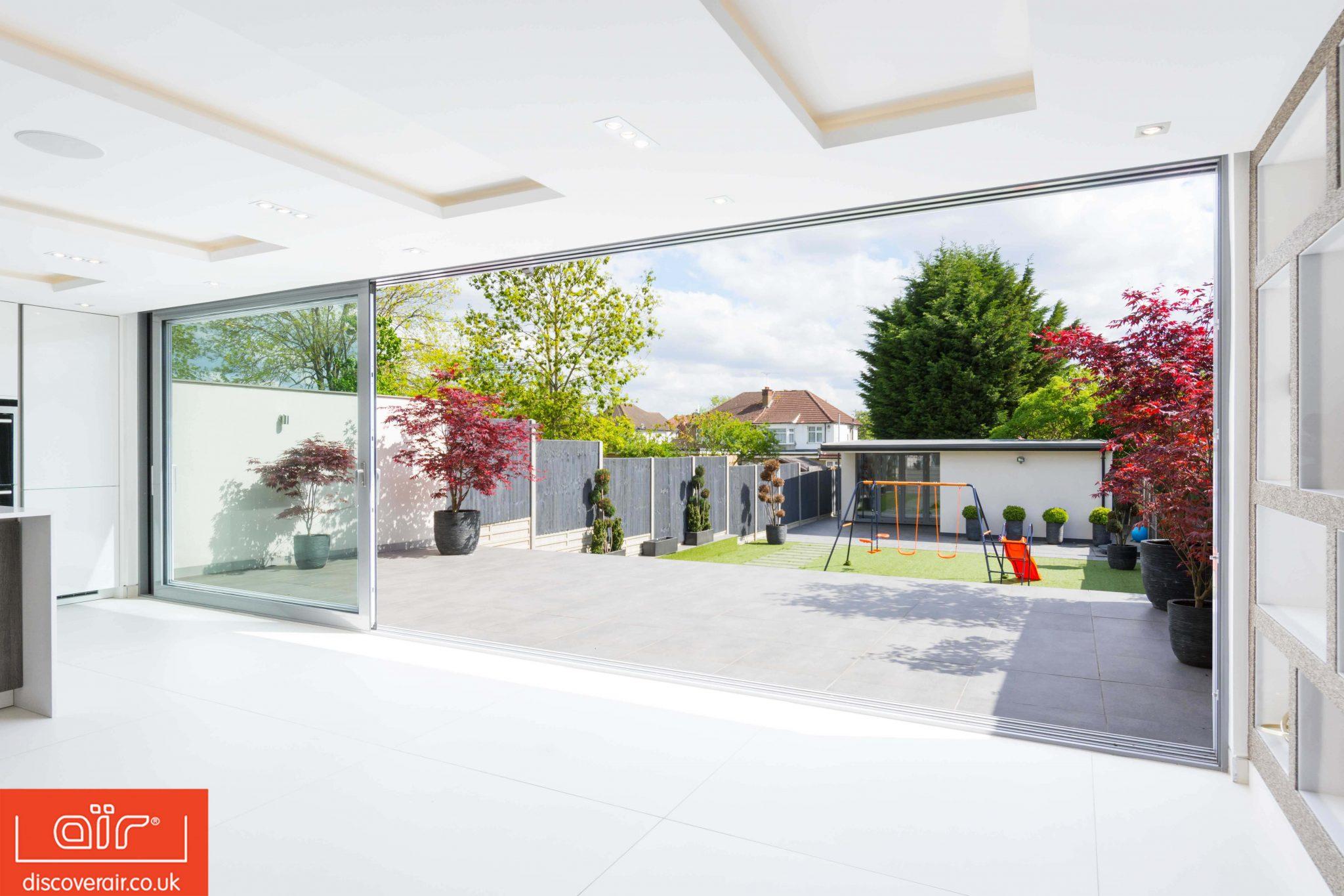 Choose lift and slide doors garden access