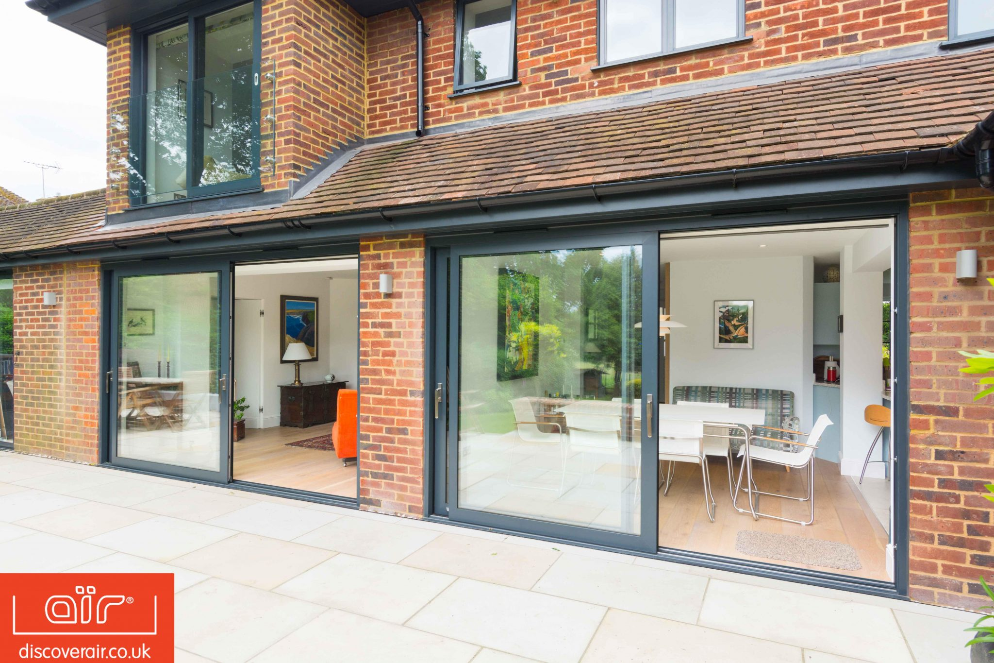 Secure energy efficient lift and slide doors