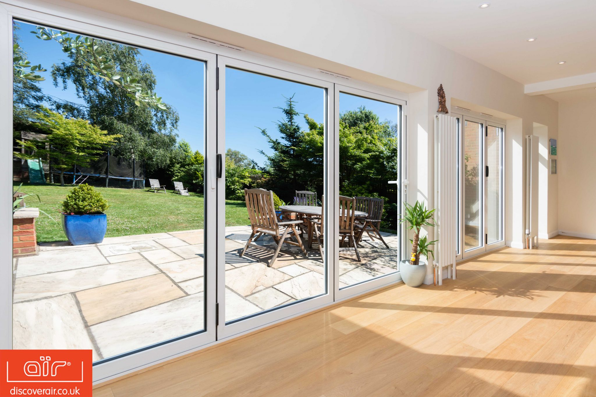 energy efficient secure glazed extension bifold doors
