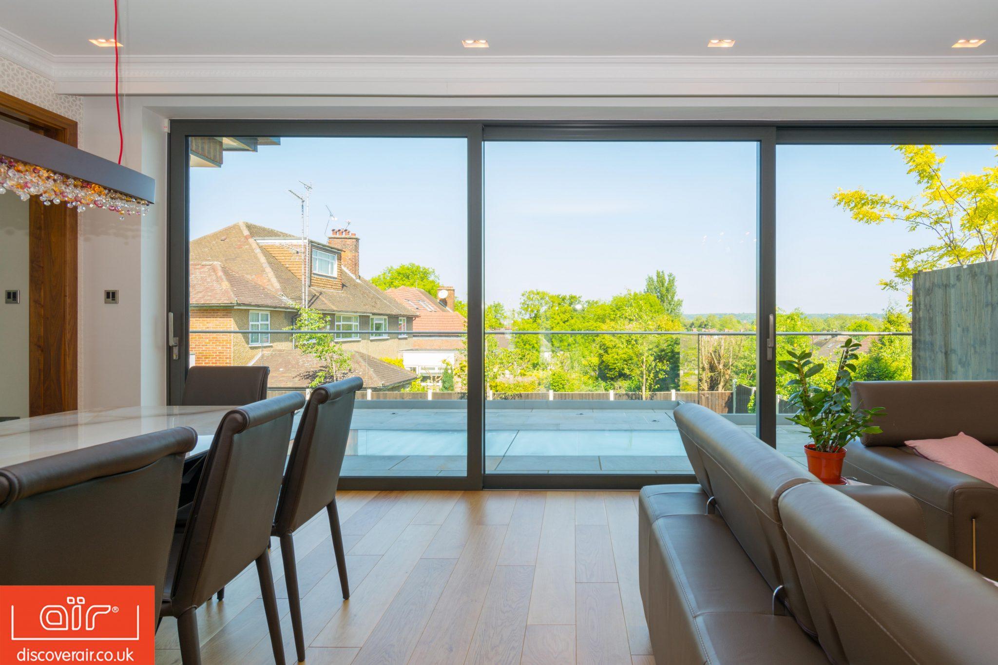 style glazed extension sliding doors